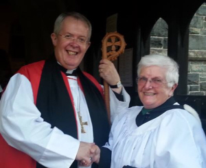 Bishop Gregory of St Asaph at the installation of Rev Evelyn Davies 2013